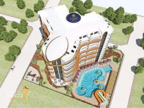 Фотография 3D макета верхнего вида комплекса Yekta Plaza Residence