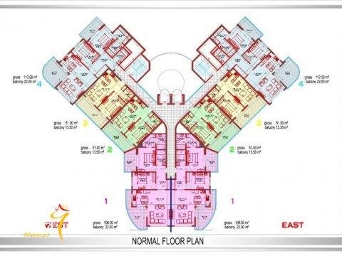 Фотография планировки этажей Yekta Plaza Residence-3