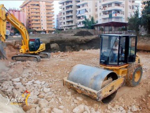 Фотография подготовки участка под фундамент