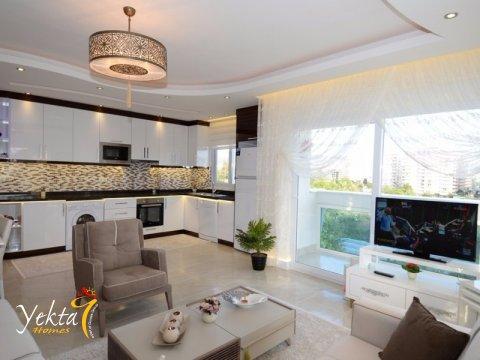 Фотография гостиной и кухни в номере Yekta Towers Residence