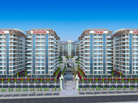 Долгожданный многофункциональный жилой комплекс Yekta Kingdom Trade Center – новый центр района Махмутлар!