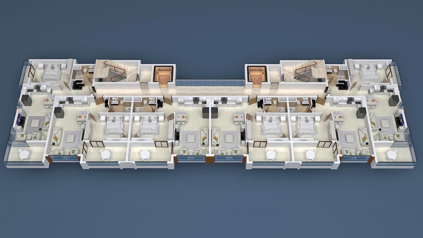 План расположения квартир 5 этаж Yekta Blue Residence