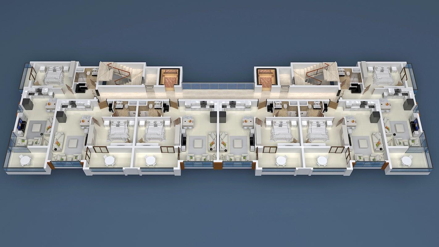 План расположения квартир 12 этаж Yekta Blue Residence