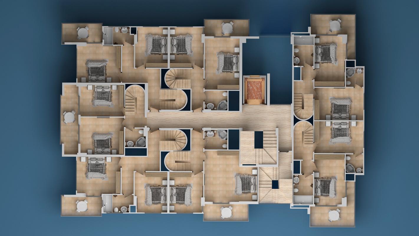 План расположения квартир 9 этаж Investment Plus