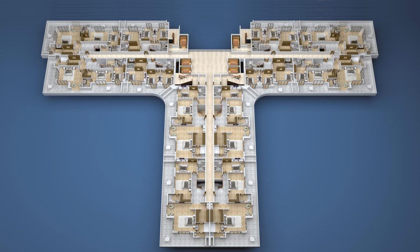 План расположения квартир 12 этаж A Yekta Kingdom Premium